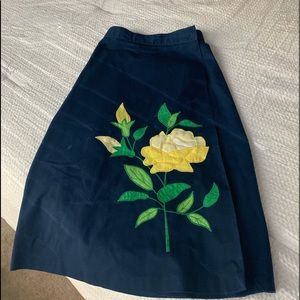 Small Vintage Floral Detail Skirt